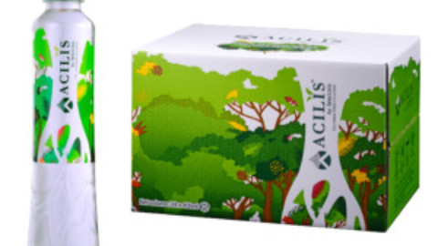 BIG DISCOUNT when you order Acilis silica-rich water by pallet: 25 cases or 45 cases