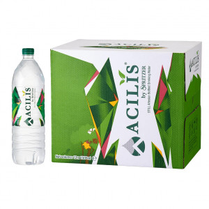 ACILIS by Spritzer Natural Silica Water 1.5 Litre Bottles[Monthly Standing Order]